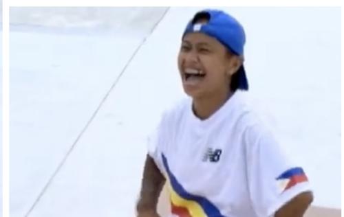 【スケボー女子】フィリピン選手のディタルが可愛い!失敗しても笑顔で明るい!