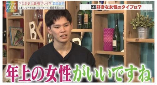 西田有志の彼女は田中みな実似?ネックレスはお揃い疑惑や好みのタイプは年上女性の真相も調査!